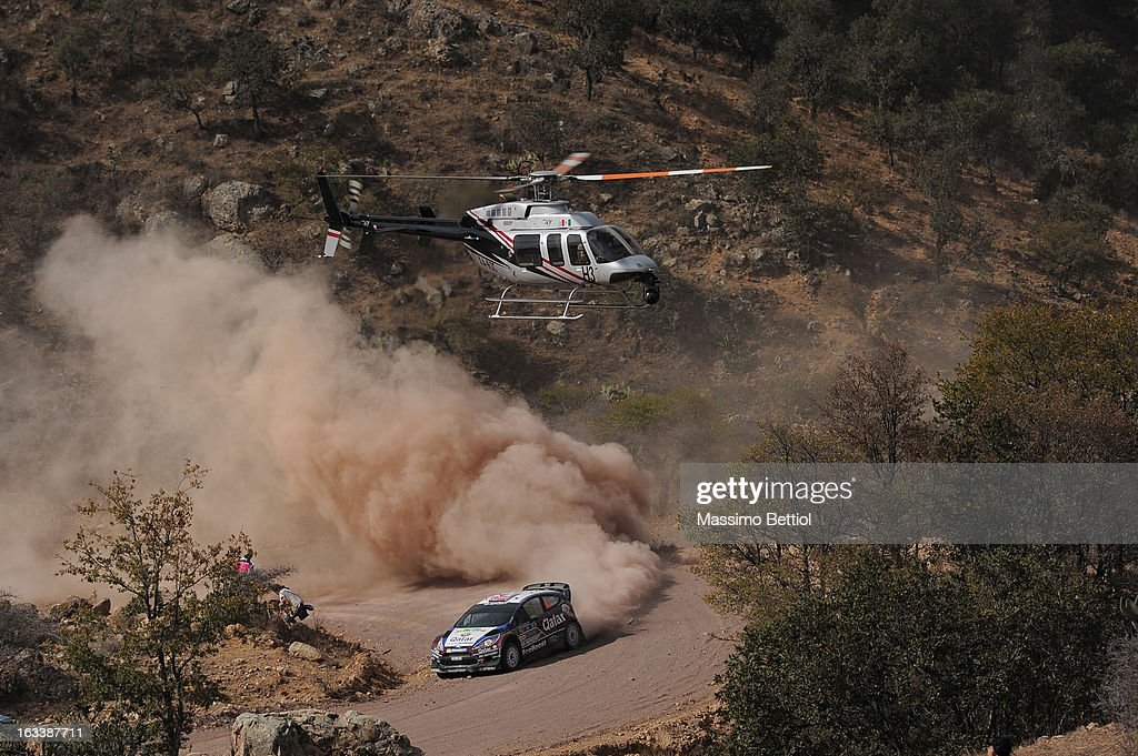 Mads Ostberg of Norway and Jonas Andersson of Sweden compete in their Qatar M-Sport WRT Ford Fiesta RS WRC during Day One of the WRC Mexico on March 08 , 2013 in Leon , Mexico.