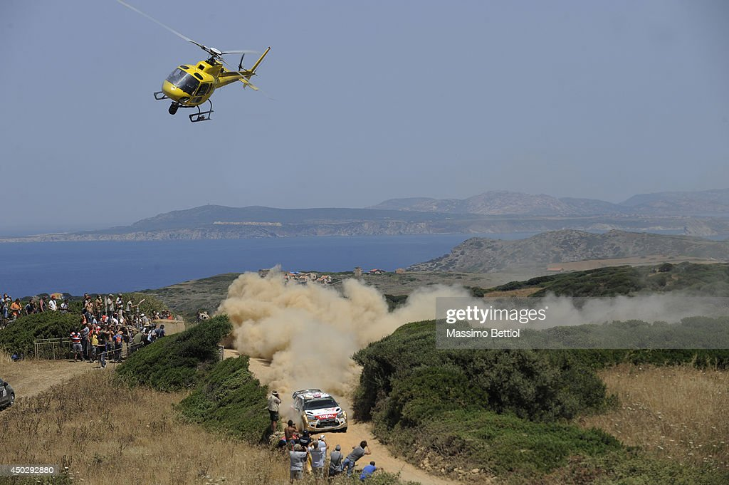 Mads Ostberg of Norway and Jonas Andersson of Sweden compete in their Citroen Total Abu Dhabi WRT Citroen DS3 WRC during Day Three of the WRC Italy on June 8, 2014 in Alghero, Italy.