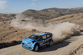 Mads Ostberg of Norway and Ola Floene of Norway compete in their MSport WRT Ford Fiesta RS WRC during Day One of the WRC Mexico on March 4 2016 in...