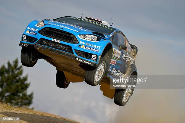 Mads Ostberg of Norway and Ola Floene of Norway compete in their MSport WRT Ford Fiesta RS WRC during Day Two of the WRC Italy on June 11 2016 in...