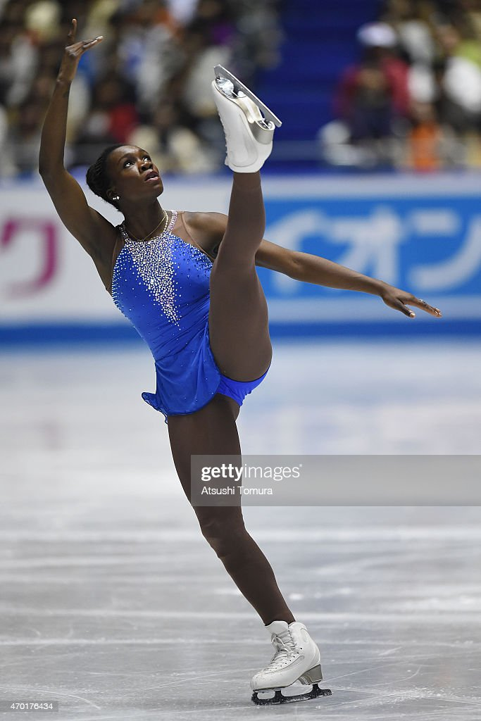 Mae Berenice Meite of France compete in the ladies free skating during the day three of the ISU World Team Trophy at Yoyogi National Gymnasium on April 18, 2015 in Tokyo, Japan.