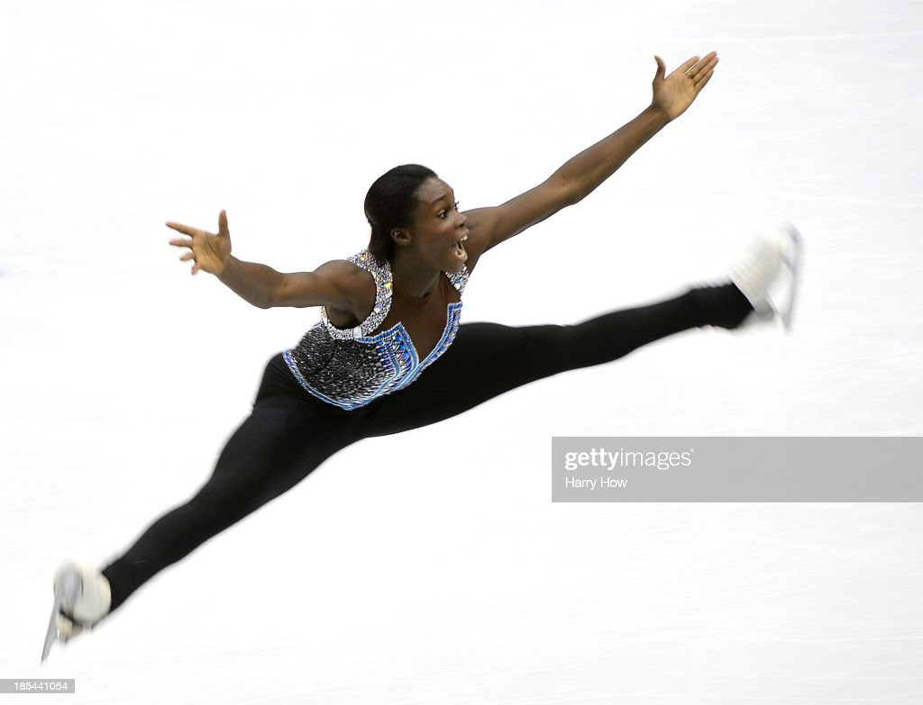 Mae Berenice Meite of France competes during the ladies free at Skate America 2013 at the Joe Louis Arena on October 20, 2013 in Detroit, Michigan.