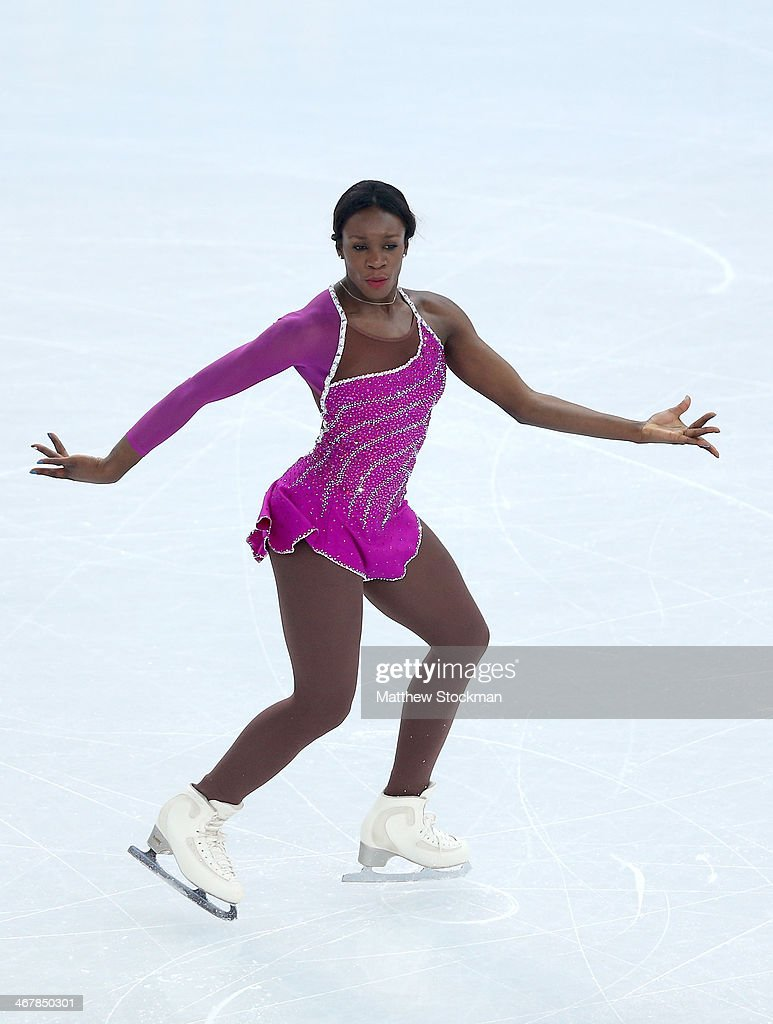 Mae Berenice Meite of France competes in the Figure Skating Team Ladies Short Program during day one of the Sochi 2014 Winter Olympics at Iceberg Skating Palace on February 8, 2014 in Sochi, Russia.