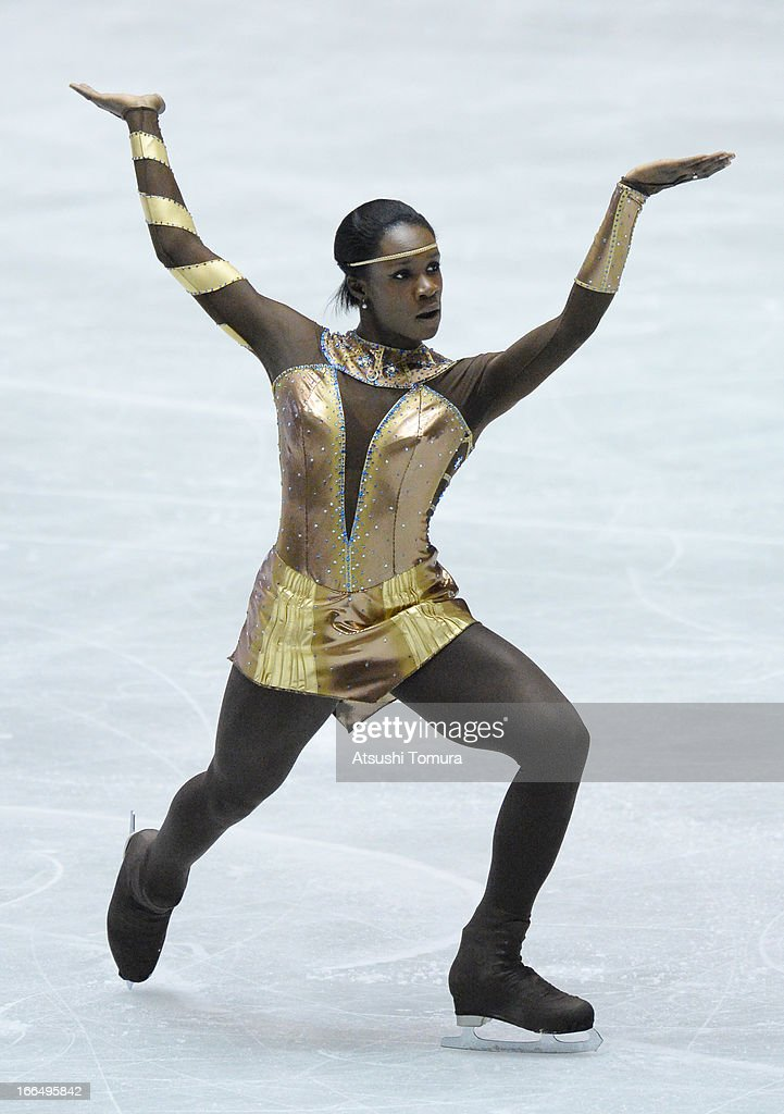 Mae Berenice Meite of France competes in the ladies's free skating during day three of the ISU World Team Trophy at Yoyogi National Gymnasium on April 13, 2013 in Tokyo, Japan.