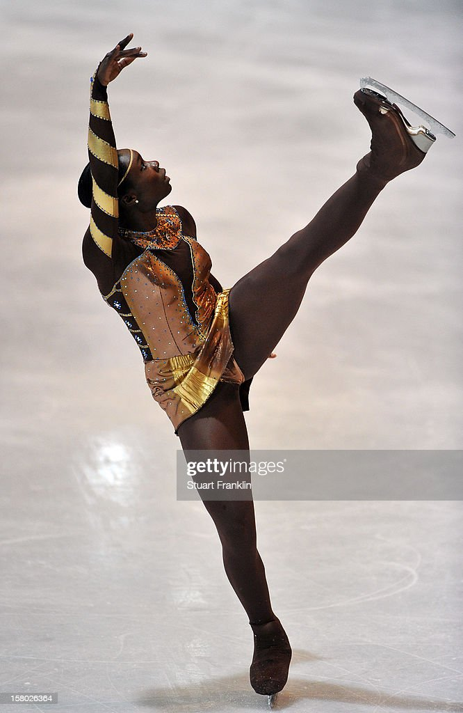 Mae - Berenice Meite of France in action during the senior ladies freestyle section of the NRW trophy at Eissportzentrum on December 9, 2012 in Dortmund, Germany.