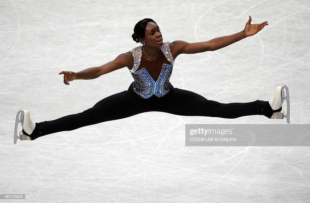 Mae Berenice Meite of France performs during her free skating in the women's singles at the world figure skating championships in Saitama on March 29, 2014.