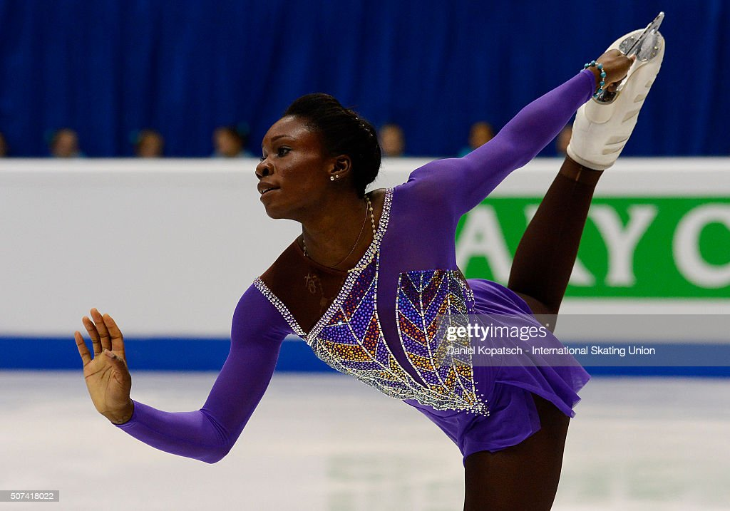 Mae Berenice Meite of France performs during the Ladies Free Skating during day three of the ISU European Figure Skating Championships 2016 on January 29, 2016 in Bratislava, Slovakia.