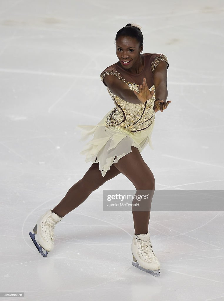 Mae Berenice Meite of france performs during the Ladies Short program during day one of Trophee Eric Bompard ISU Grand Prix of Figure Skating at the Meriadeck Ice Rink on November 21, 2014 in Bordeaux, France.