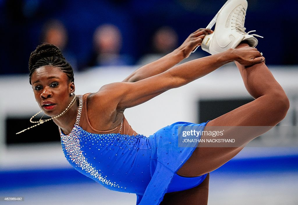 Mae Berenice Meite of France performs on ice during the ladies free skating routine of the ISU European Figure Skating Championships on January 31, 2015 in Stockholm, Sweden.