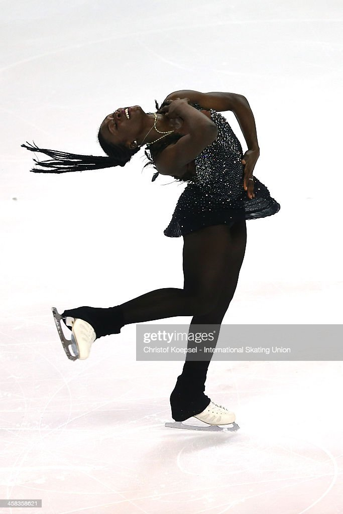Mae Berenice Meite of France skates during the ladies short program of the ISU Grand Prix at Meriadeck Ice Rink on November 13, 2015 in Bordeaux, France.