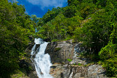 mae pan waterfall , Doi Inthanon National Park  Chom Thong Chiang Mai, Thailand.
