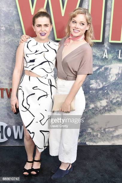 Mae Whitman and Jane Levy attend the World Premiere Of Showtime's 'Twin Peaks' at The Theatre at Ace Hotel on May 19 2017 in Los Angeles California