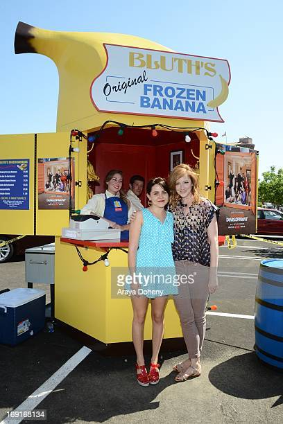 Mae Whitman and Judy Greer appear at the 'Arrested Development' Bluth's Original Frozen Banana Stand First Los Angeles Location Opening on May 20...
