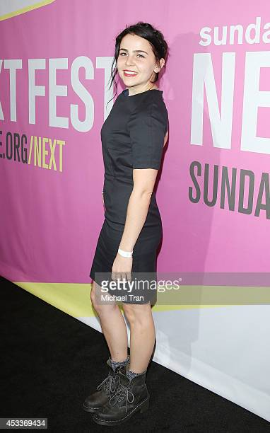 Mae Whitman arrives at the Los Angeles Premiere of 'Life After Beth' held during the 2014 Sundance NextFest at The Theatre at Ace Hotel Downtown LA...