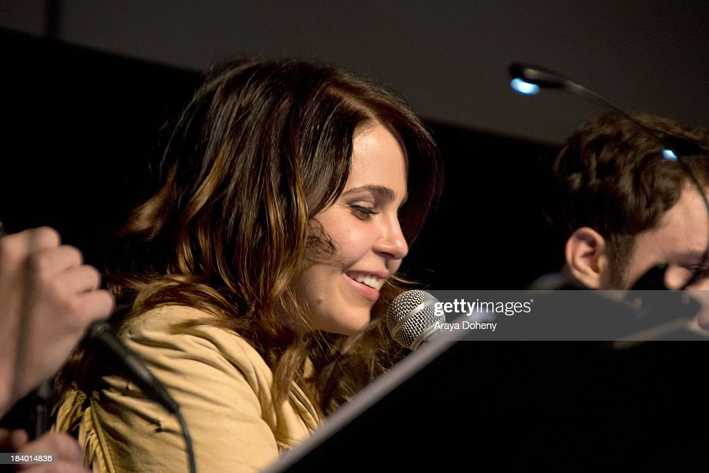 Mae Whitman at the Film Independent at LACMA - 'Boogie Nights' live read directed by Jason Reitman at Bing Theatre At LACMA on October 10, 2013 in Los Angeles, California.