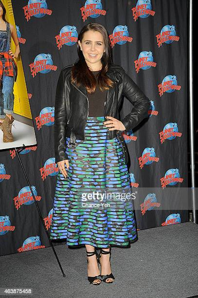 Mae Whitman attends The Cast Of 'The Duff' Visit Planet Hollywood Times Square at Planet Hollywood Times Square on February 19 2015 in New York City