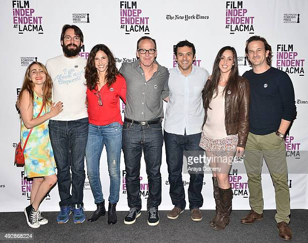 Mae Whitman Martin Starr Michaela Watkins Clark Gregg Fred Savage Catherine Reitman and Richard Speight Jr perform at the Film Independent Live Read...
