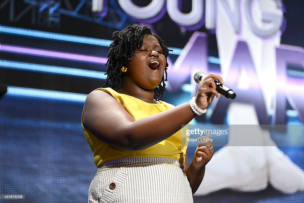 Mae Ya Carter performs onstage for the Ovation TV's 'Young Marvels' panel of the 2014 Summer Television Critics Association at The Beverly Hilton Hotel on July 8, 2014 in Beverly Hills, California.