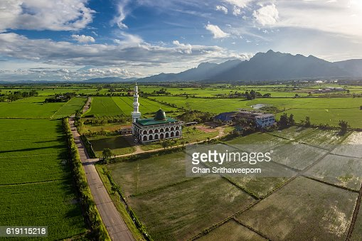 Maesai mosque in the rice fields