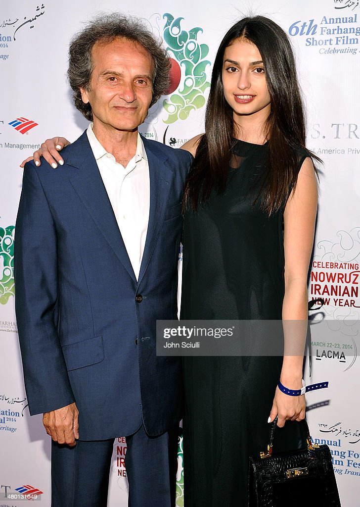 Maestro Shardad Rohani and Sara Rohani attend the 6th Annual Farhang Foundation's Short Film Festival award ceremony and reception at LACMA on March 22, 2014 in Los Angeles, California.