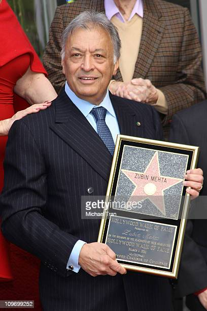 Maestro Zubin Mehta attends the ceremony honoring him with a Star on the Hollywood Walk of Fame on March 1 2011 in Hollywood California