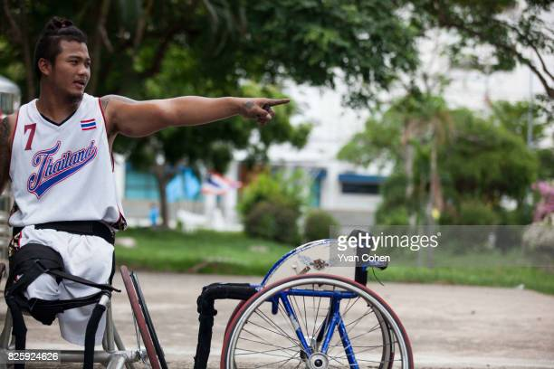 Maetee Yenkuan a member of Thailand's national wheelchair basketball team is portrayed here at a government sports facility in Cholburi province...