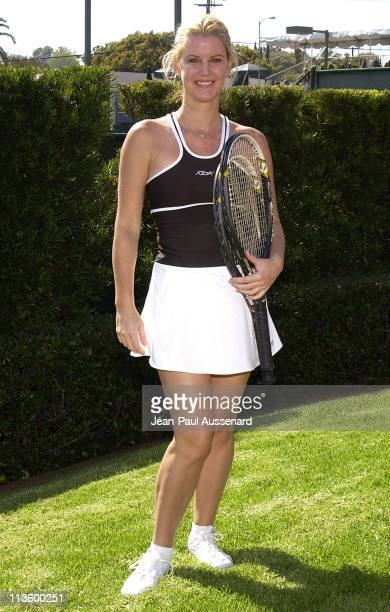 Maeve Quinlan during 2nd Annual Merv Griffin Beverly Hills Country Club Celebrity Tennis Classic at Beverly Hills Country Club in Culver City...