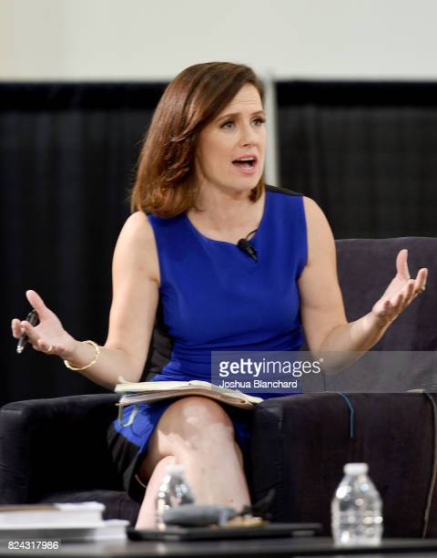 Maeve Reston at the 'CNN How Democrats Can Emerge From the Wilderness' panel during Politicon at Pasadena Convention Center on July 29 2017 in...
