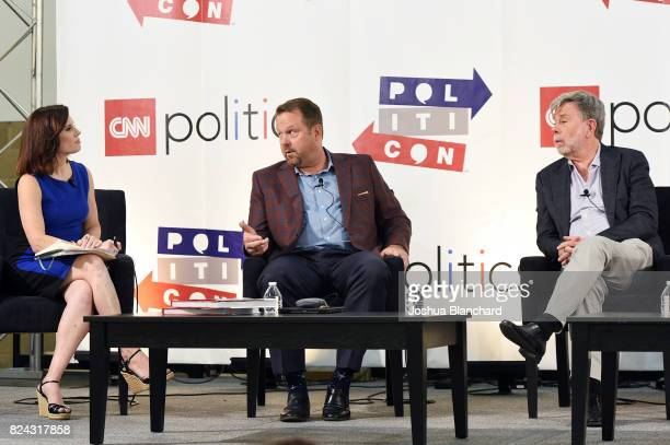 Maeve Reston Rob Stutzman and Bill Carrick at the 'CNN How Democrats Can Emerge From the Wilderness' panel during Politicon at Pasadena Convention...