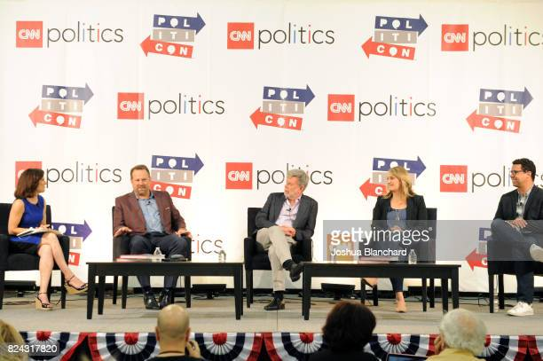 Maeve Reston Rob Stutzman Bill Carrick Buffy Wicks and Bill Burton at the 'CNN How Democrats Can Emerge From the Wilderness' panel during Politicon...
