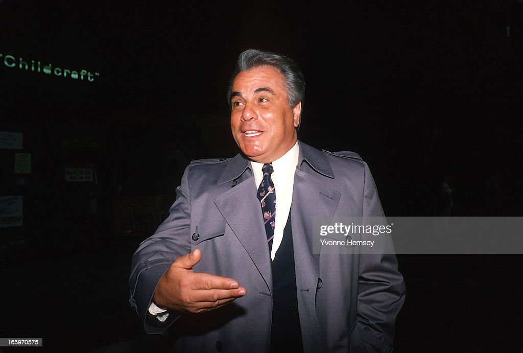 Mafia Boss <a gi-track='captionPersonalityLinkClicked' href=/galleries/search?phrase=John+Gotti&family=editorial&specificpeople=240250 ng-click='$event.stopPropagation()'>John Gotti</a>; aka 'The Dapper Don; ' is photographed on a street corner January 20, 1987 in New York City.