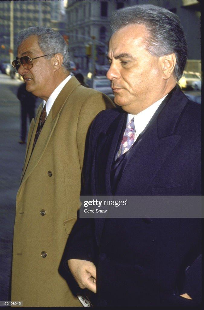 Mafia boss John Gotti (R) w. brother Peter.