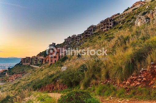Mafia House Ruins In Palermo Sicily In Italy Stock Photo ...