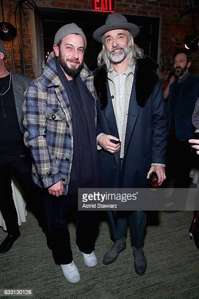 Magasin cofounder Josh Peskowitz and David Perry attend the Billy Reid Autumn/Winter 2017 show at The Cellar at The Beekman on January 30 2017 in New...