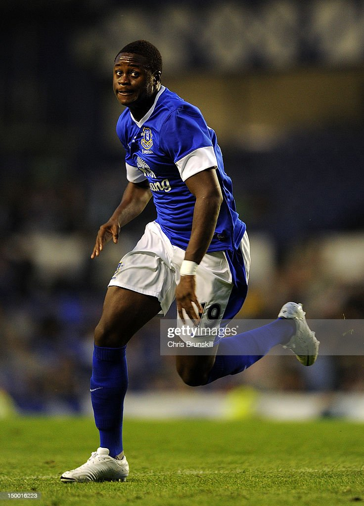 <a gi-track='captionPersonalityLinkClicked' href=/galleries/search?phrase=Magaye+Gueye&family=editorial&specificpeople=7018117 ng-click='$event.stopPropagation()'>Magaye Gueye</a> of Everton in action during the Pre-season Friendly match between Everton and AEK Athens at Goodison Park on August 8, 2012 in Liverpool, England.