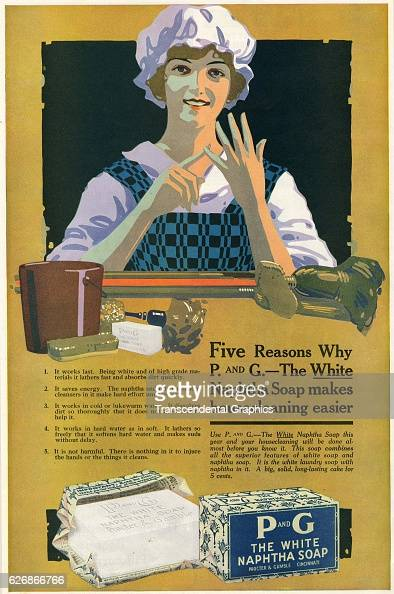 Magazine advertisement for Soap with a cleaning woman Cincinnati Ohio April 1917