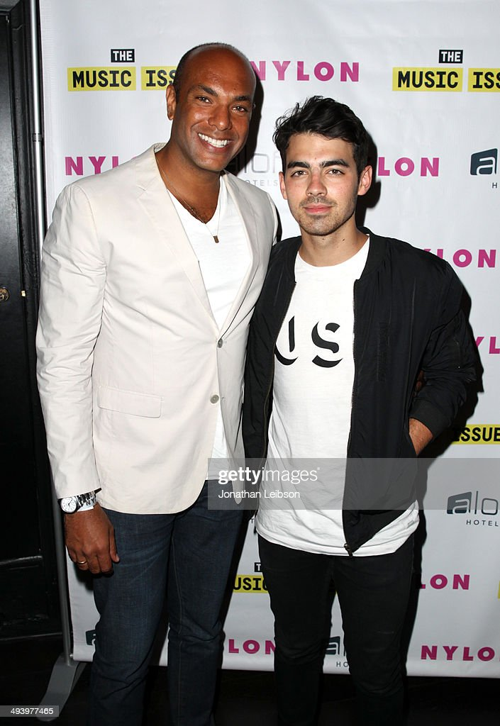 NYLON magazine Associate Publisher Karim Abay (L) and singer <a gi-track='captionPersonalityLinkClicked' href=/galleries/search?phrase=Joe+Jonas&family=editorial&specificpeople=842712 ng-click='$event.stopPropagation()'>Joe Jonas</a> attends NYLON x Aloft Hotels celebrate The Music Issue with cover star HAIM on May 26, 2014 in Los Angeles, California.