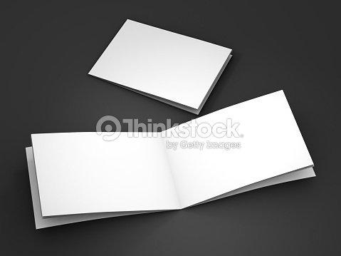 Magazine, book, booklet or brochure mockup. 3D rendering : Stock Photo