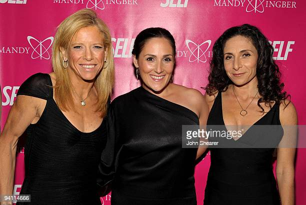 SELF magazine editorinchief Lucy Danziger actress Ricki Lake and Yoga instructor Mandy Ingber attend Mandy Ingber's Yogalosophy DVD launch with SELF...