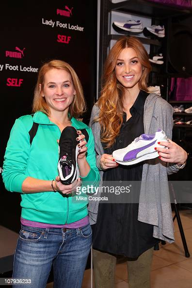 Magazine Fitness Director Meaghan Murphy and Whitney Port attend the PUMA BodyTrain launch with Self Magazine at Lady Foot Locker on January 8 2011...