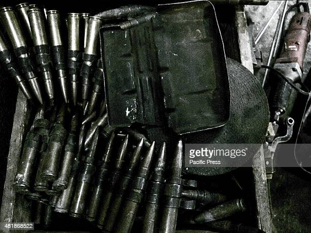 Magazine of Dushka inside the shop of Ibrahim Hassan Ibrahim Hassan was born on 1973 in Korea He is a gunsmith and an armorer from 1993 until 2013 by...