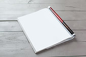 Blank white Magazine page for your design
