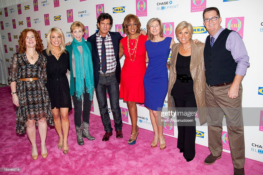 O Magazine publisher Jill Seelig, sex & relationship therapist Dr. Laura Berman, author Martha Beck, O Magazine creative director Adam Glassman, TV personality Gayle King, O Magazine beauty director Val Monroe, financial advisor/TV personality Suze Orman, and professional organizer/TV personality Peter Walsh attend O, The Oprah Magazine's O You! Event at Los Angeles Convention Center on October 20, 2012 in Los Angeles, California.
