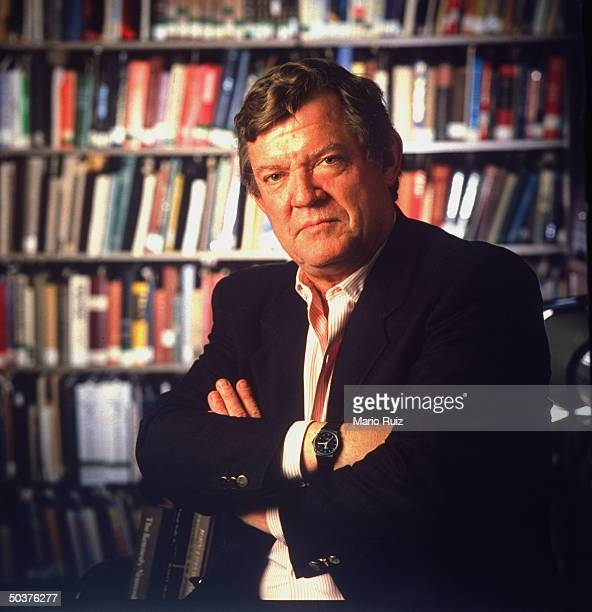 TIME magazine's art critic Robert Hughes w arms crossed across his chest