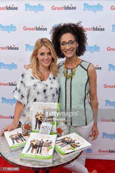 Magazine's 'GREAT IDEAS' Food Truck Hits The Road with Daphne Oz and The Chew's Carla Hall at Madison Square Park on June 27 2013 in New York City