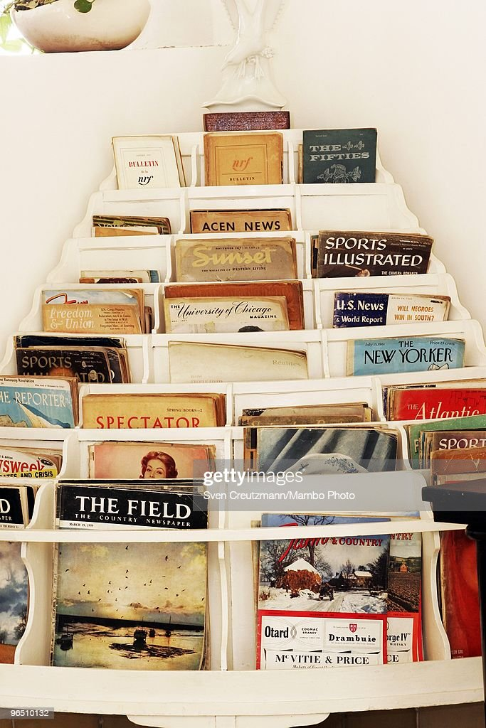 Magazines in the living-room of Ernest Hemingway�s house at the Finca Vigia, on January 6, 2007 in Havana, Cuba. The Hemingway Finca Vigia, now turned into a museum, has been restored with joint efforts of American and Cuban scientists and historians. Between 1939 and 1960, the American writer and journalist lived for many years in Cuba. It was here where he wrote his novel The Old Man and the Sea, which earned him both the Pulitzer Prize and the Nobel Prize in Literature.
