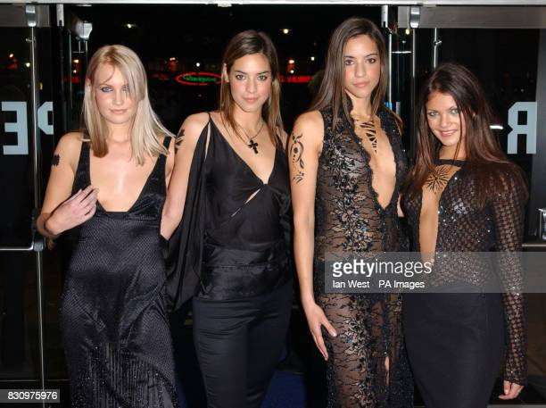 FHM magazine's Pit Girls at the RUSI in Whitehall London at a party following the gala premiere of the film xXx