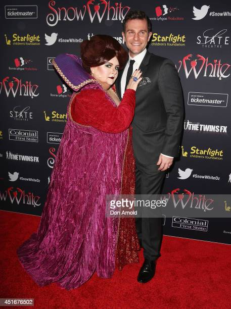 Magda Szubanski and David Campbell attend the media call for Snow White Winter Family Musical at the State Theatre on July 4 2014 in Sydney Australia