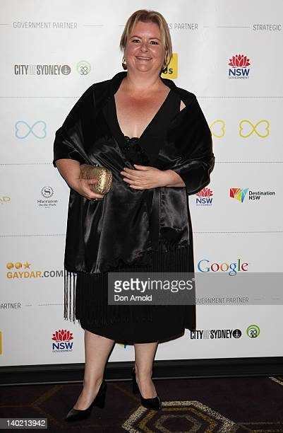 Magda Szubanski arrives at the Syney Mardi Gras VIP party at the Conservatory Bar on March 1 2012 in Sydney Australia