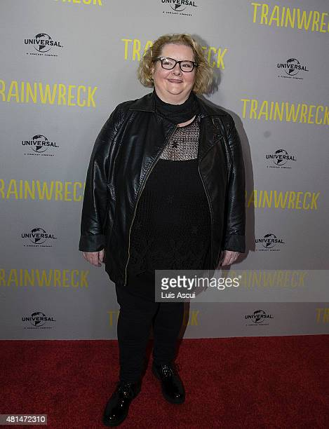 Magda Szubanski arrives at the Trainwreck premiere at Village Jam Factory on July 21 2015 in Melbourne Australia